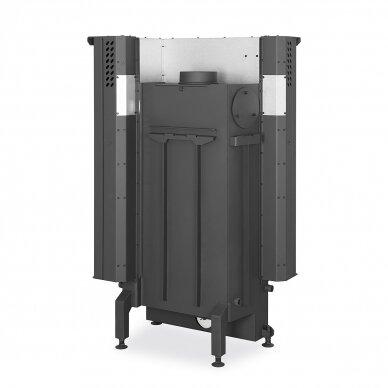 Plieninis židinio ugniakuras Romotop IMPRESSION R2G L 58... su pakeliamomis durimis, dešininis, malkinis, 9,6 kW 3