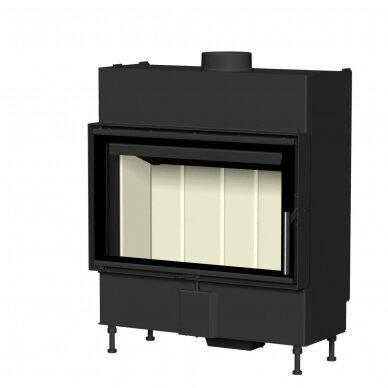Plieninis židinio ugniakuras Romotop KV HEAT H2P01 70.. (gylis 490mm), malkinis, 90 m², 13 kW