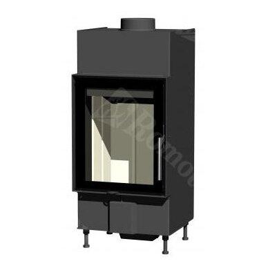 Plieninis židinio ugniakuras Romotop KV HEAT H2Q01, malkinis, 9 kW, 70 m²
