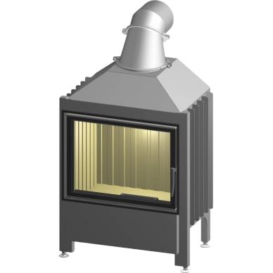 Plieninis židinio ugniakuras Spartherm Linear Varia 1V 51-4S, kairės pusės durelėmis, malkinis, 70 m2, 9,1 kW