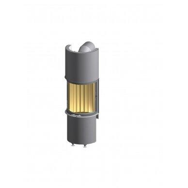 Plieninis židinio ugniakuras Spartherm Magic, lenktu stiklu, elektroninis valdymas, malkinis, 90 m2, 15,6 kW