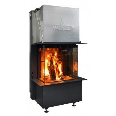 Plieninis židinio ugniakuras Spartherm Premium A-3RL-60h, ø 200 mm, malkinis, 75 m2, 7,5 kW 4