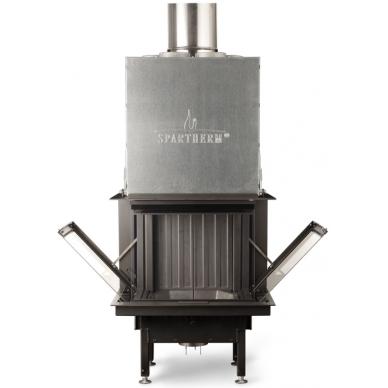 Plieninis židinio ugniakuras Spartherm Premium A-3RL-60h, ø 250 mm, 75 m2, 9,8 kW, malkinis
