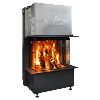 Plieninis židinio ugniakuras Spartherm Premium A-3RL-80h, d., 11,4 kW, malkinis