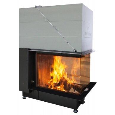 Plieninis židinio ugniakuras Spartherm Premium A-U-70h, ø 200 mm, 114 m2, 11,4 kW, malkinis