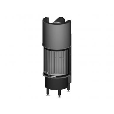 Plieninis židinio ugniakuras Spartherm Speedy Ph-4S, lenktu stiklu, 9,1 kW, 90 m2, malkinis 2