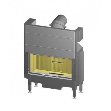 Plieninis židinio ugniakuras Spartherm Varia AS37h-4S-2, tiesiu stiklu, pakeliamomis durimis, 70 m2, 9,1 kW, malkinis
