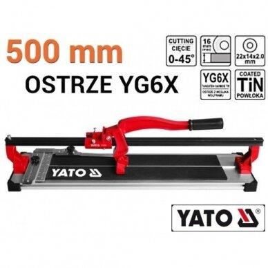 Plytelių pjaustymo staklės Yato 500mm, YT-3706 2