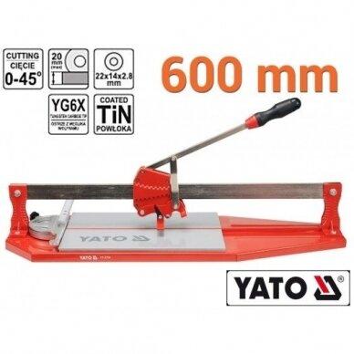 Plytelių pjaustymo staklės Yato 600mm, YT-3704 2