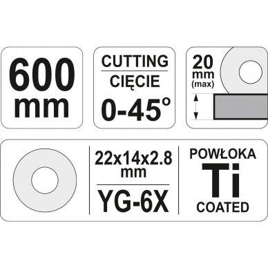 Plytelių pjaustymo staklės Yato 600mm, YT-3704 4