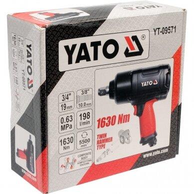 """Pneumatinis veržliasukis Yato 1630 Nm, 3/4"""" 2"""