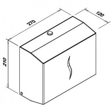 Popierinių rankšluosčių lapeliais laikiklis Faneco DUO S 3