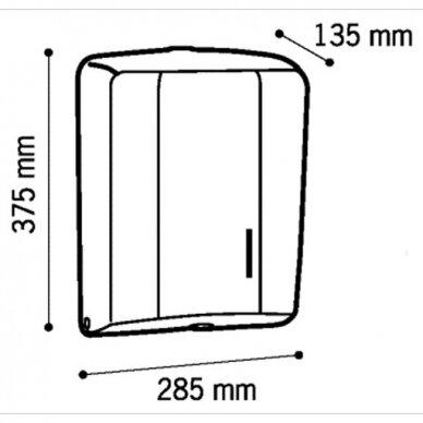 Popierinių rankšluosčių lapeliais laikiklis Faneco GEO 2