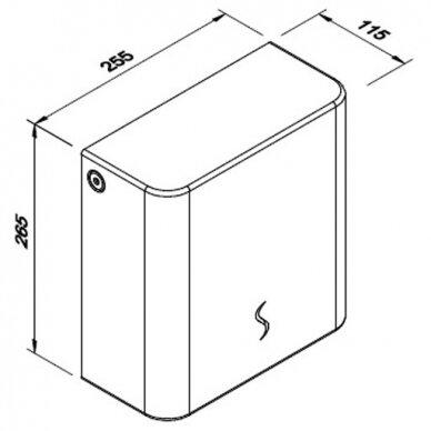 Popierinių rankšluosčių lapeliais laikiklis Faneco SOL 2