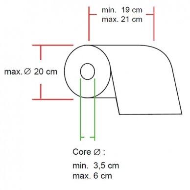 Popierinių rankšluosčių ritinėliai laikiklis Faneco POP 3