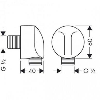 Potinkinė dalis dušo žarnai Hansgrohe Fixfit E 2