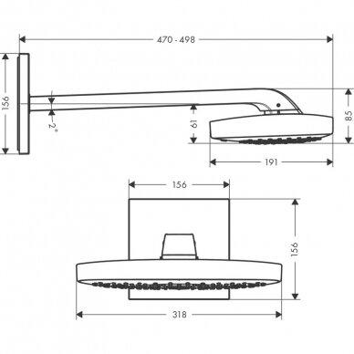Potinkinė dušo galva Hansgrohe Raindance Select E 300 3 jet 6
