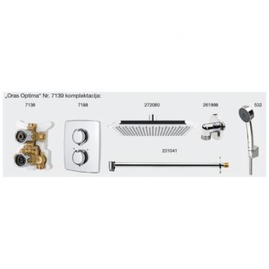 Potinkinė termostatinė dušo sistema Oras Optima 7139 7