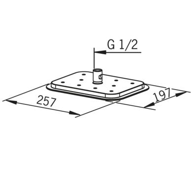 Potinkinė termostatinė dušo sistema Oras Optima 7139 8