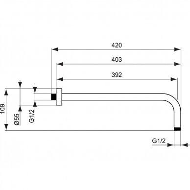 Potinkinės termostatinės sistemos komplektas Ideal Standard Ceratherm 100 11