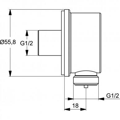 Potinkinės termostatinės sistemos komplektas Ideal Standard Ceratherm 100 12
