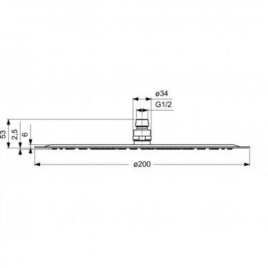 Potinkinės termostatinės sistemos komplektas Ideal Standard Ceratherm 100 13