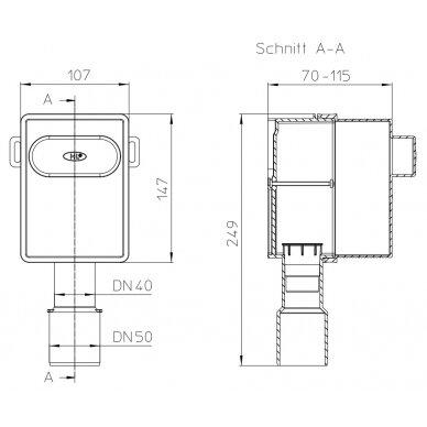 Potinkinio sifono montažinis komplektas HL4000.0 2