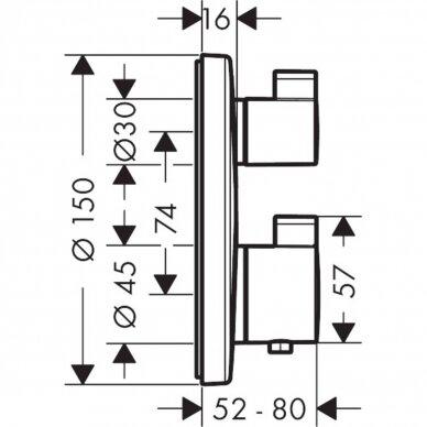 Potinkinis dušo maišytuvas Hansgrohe Ecostat S 4