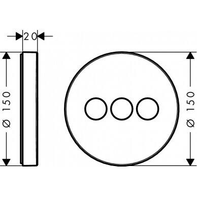 Potinkinis dušo maišytuvas Hansgrohe ShowerSelect S 3 2