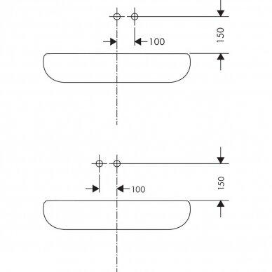 Potinkinis maišytuvas praustuvui Hansgrohe Metris 3