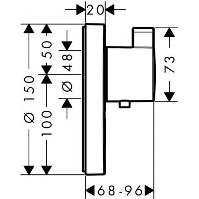 Potinkinis termost dušo maišytuvas Hansgrohe ShowerSelect S 1 2