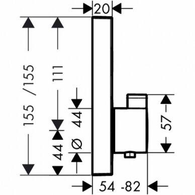Potinkinis termostatinis dušo maišytuvas Hansgrohe ShowerSelect 1 3