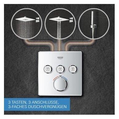 Potinkinis termostatinis komplektas Grohe SmartControl Cube 310 3