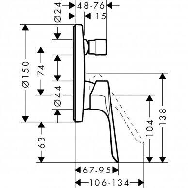 Vonios maišytuvas Hansgrohe Logis E 2