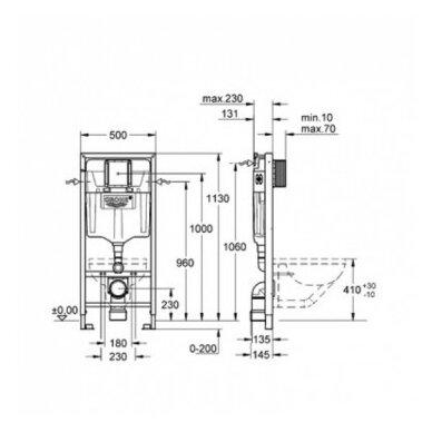 Potinkinis WC komplektas Grohe Rapid SL 3in1 5