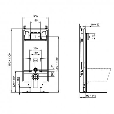 Potinkinis WC rėmas Ideal Standard Prosys 2
