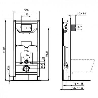 Potinkinis WC rėmas Prosys120 M 4