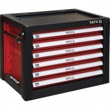 Profesionali įrankių spintelė su 6 stalčiais Yato, 690x465x535MM (YT-09155)