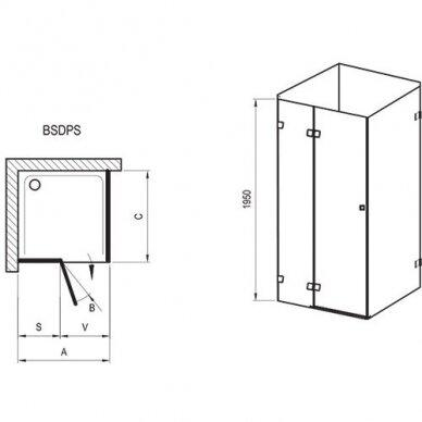 Dušo kabina Ravak Brilliant BSDPS 80, 90, 100, 110, 120 cm 8