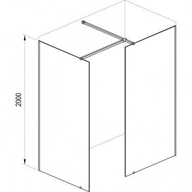 Dušo kabina Ravak Walk in Wall 60 - 160 cm 6