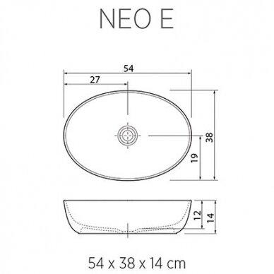 Praustuvas Balteco Neo E 54 cm 2