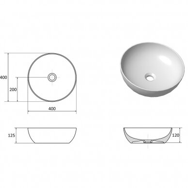Praustuvas-dubuo Ravak Uni 400 B Slim 6