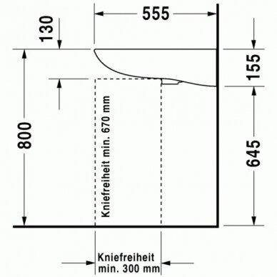 Praustuvas Duravit D-Code 60 cm 3