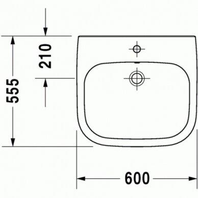 Praustuvas Duravit D-Code 60 cm 4