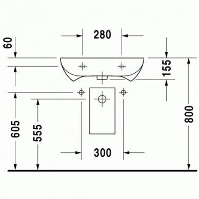 Praustuvas Duravit D-Code 60 cm 5