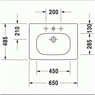 Praustuvas Duravit D-Code 65 cm 2