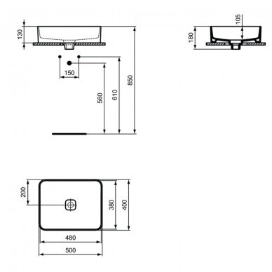 Praustuvas Ideal Standard Strada II Vessel 50 cm 3