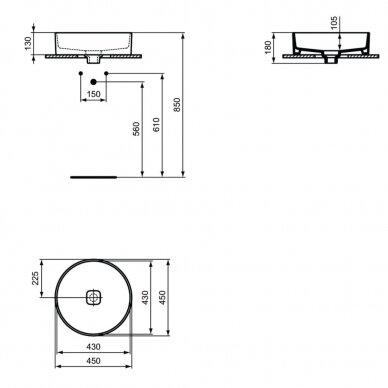 Praustuvas Ideal Standard Strada II Vessel 45 cm 3