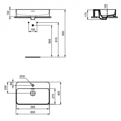 Praustuvas Ideal Standard Strada II Vessel 60 cm 4