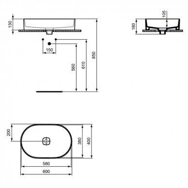Praustuvas Ideal Standart Strada II 60 cm 6